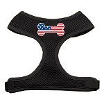 Bone Flag USA Screen Print Soft Mesh Harness Black Small